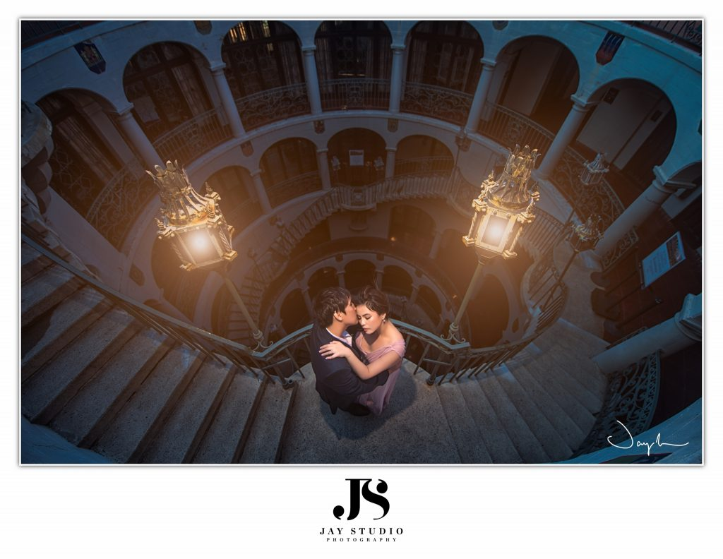 mission inn engagement photography