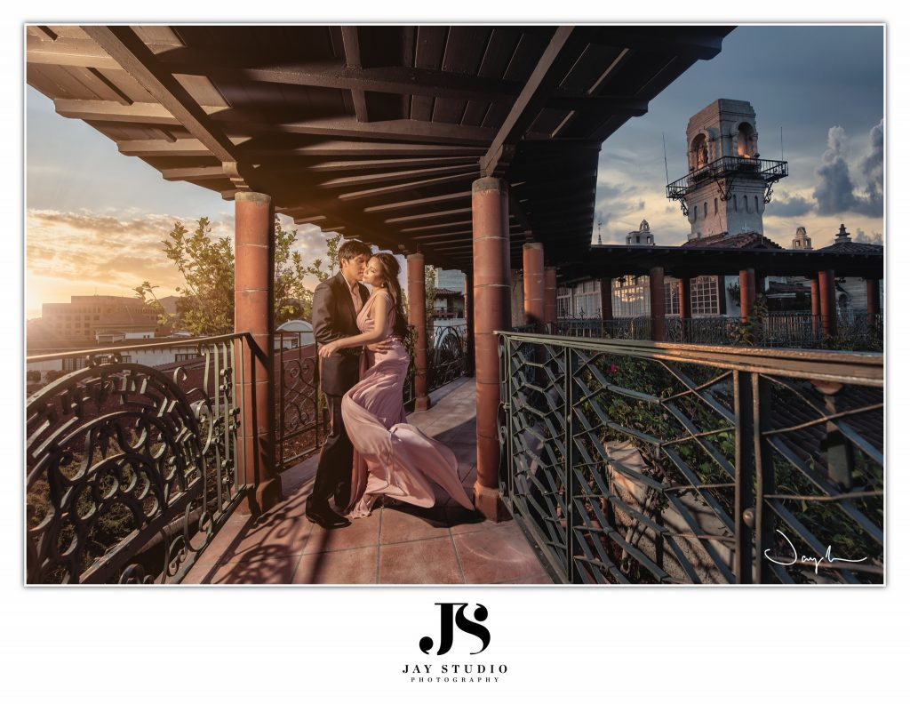 mission inn hotel engagement photo