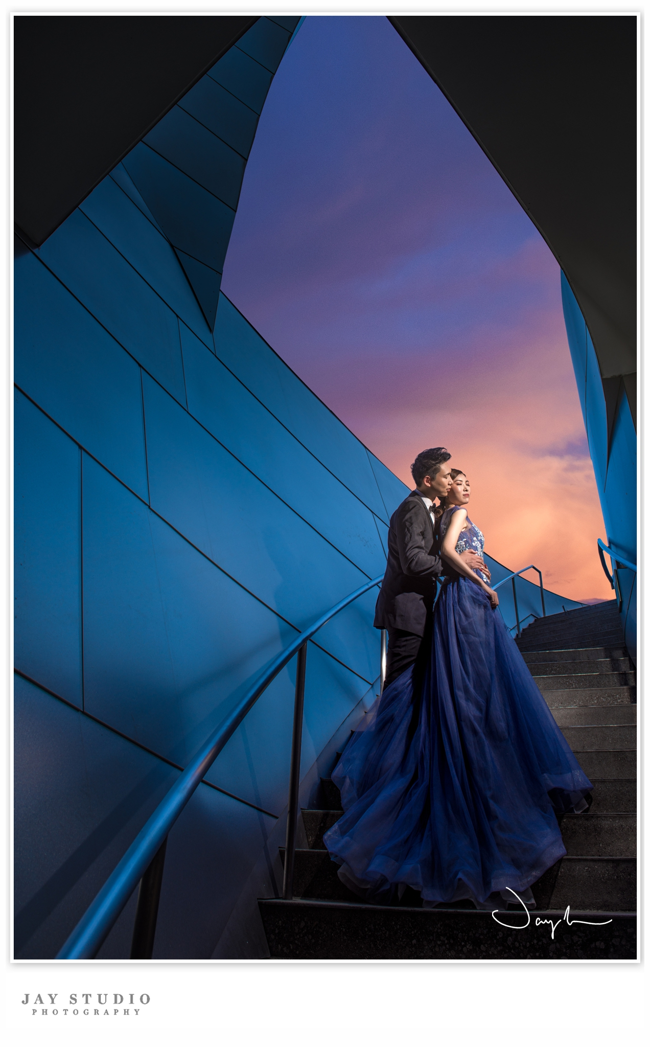 disney concert hall pre wedding
