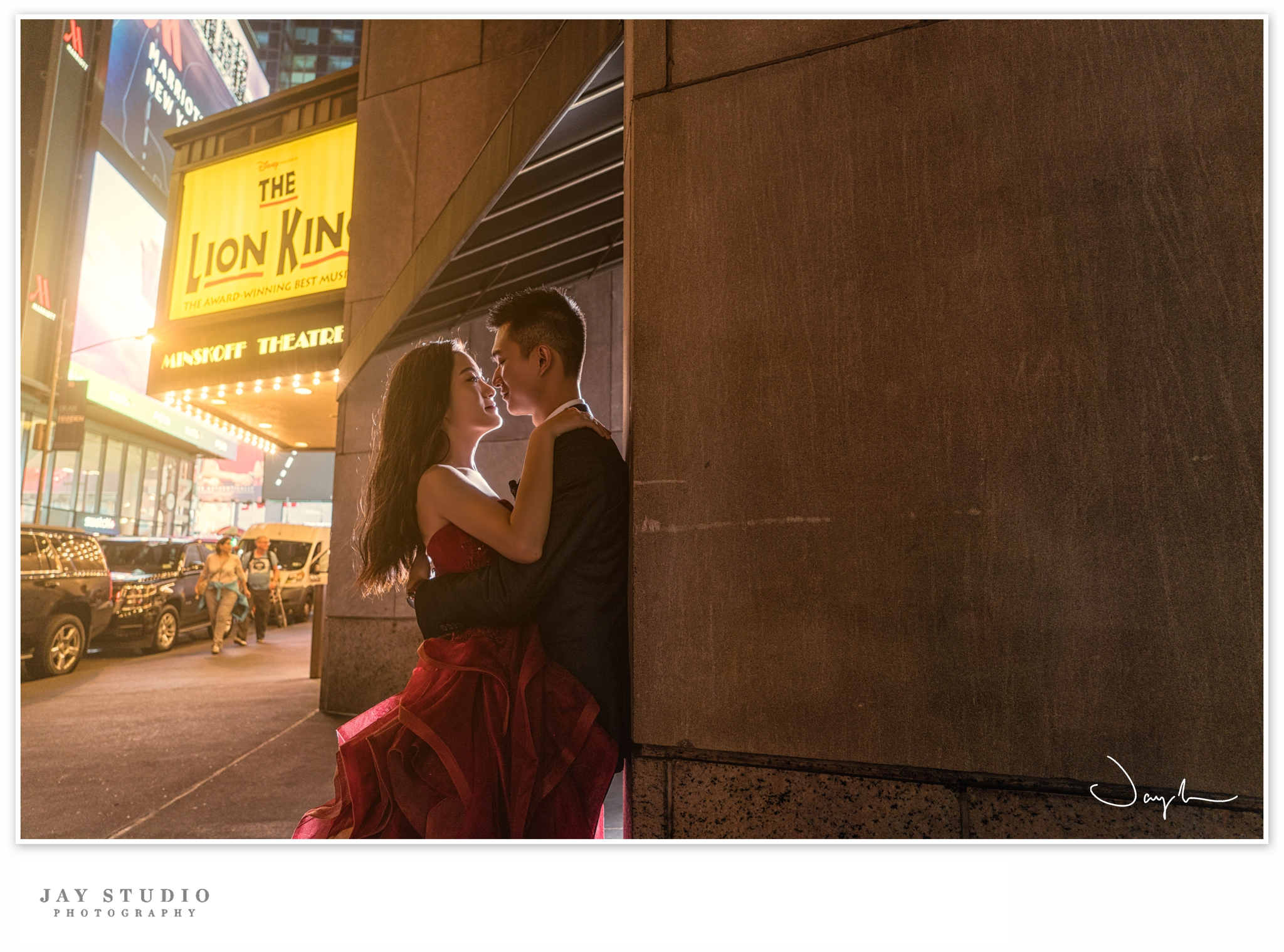 new york time square pre wedding