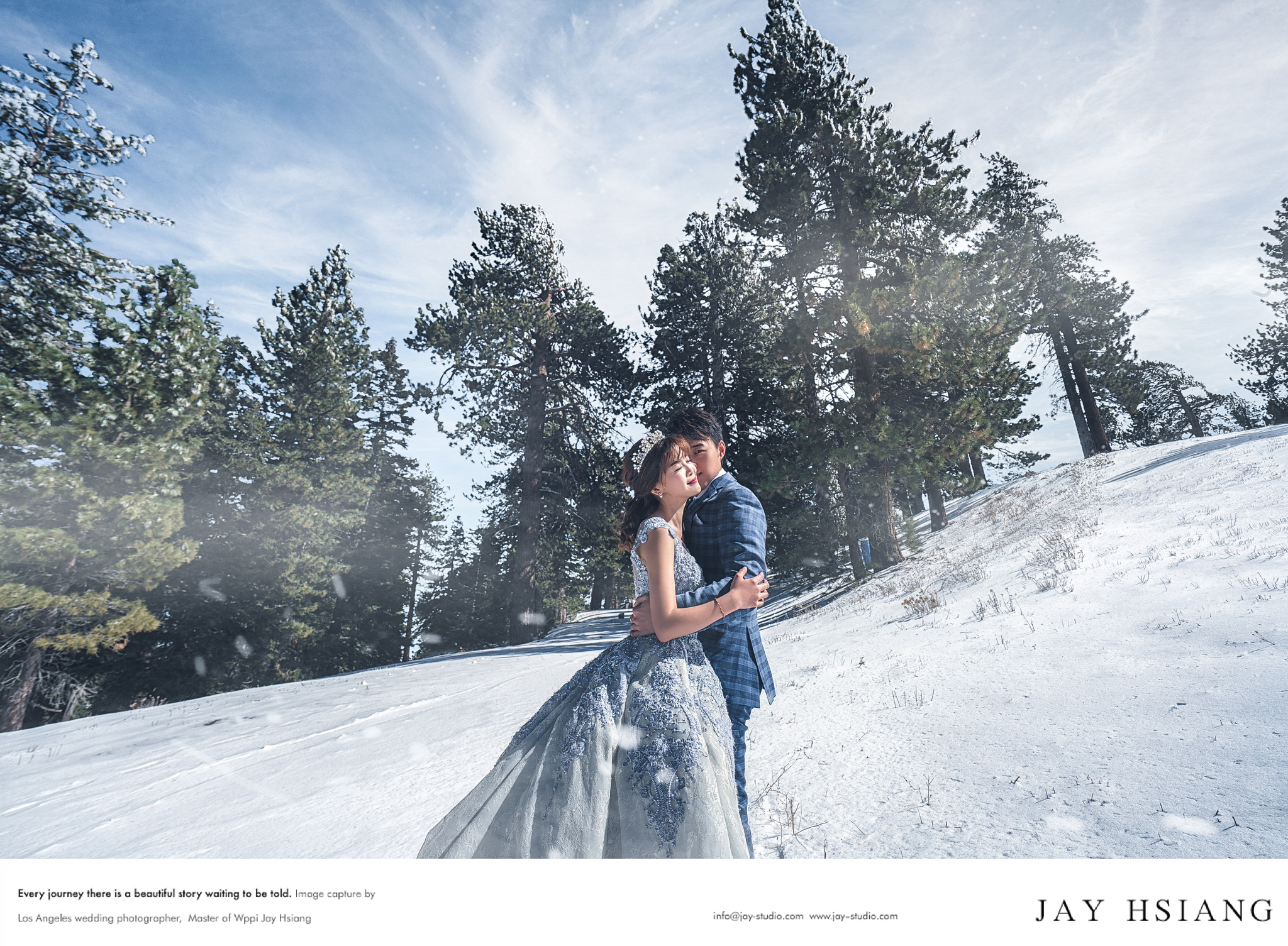 snow pre wedding photo