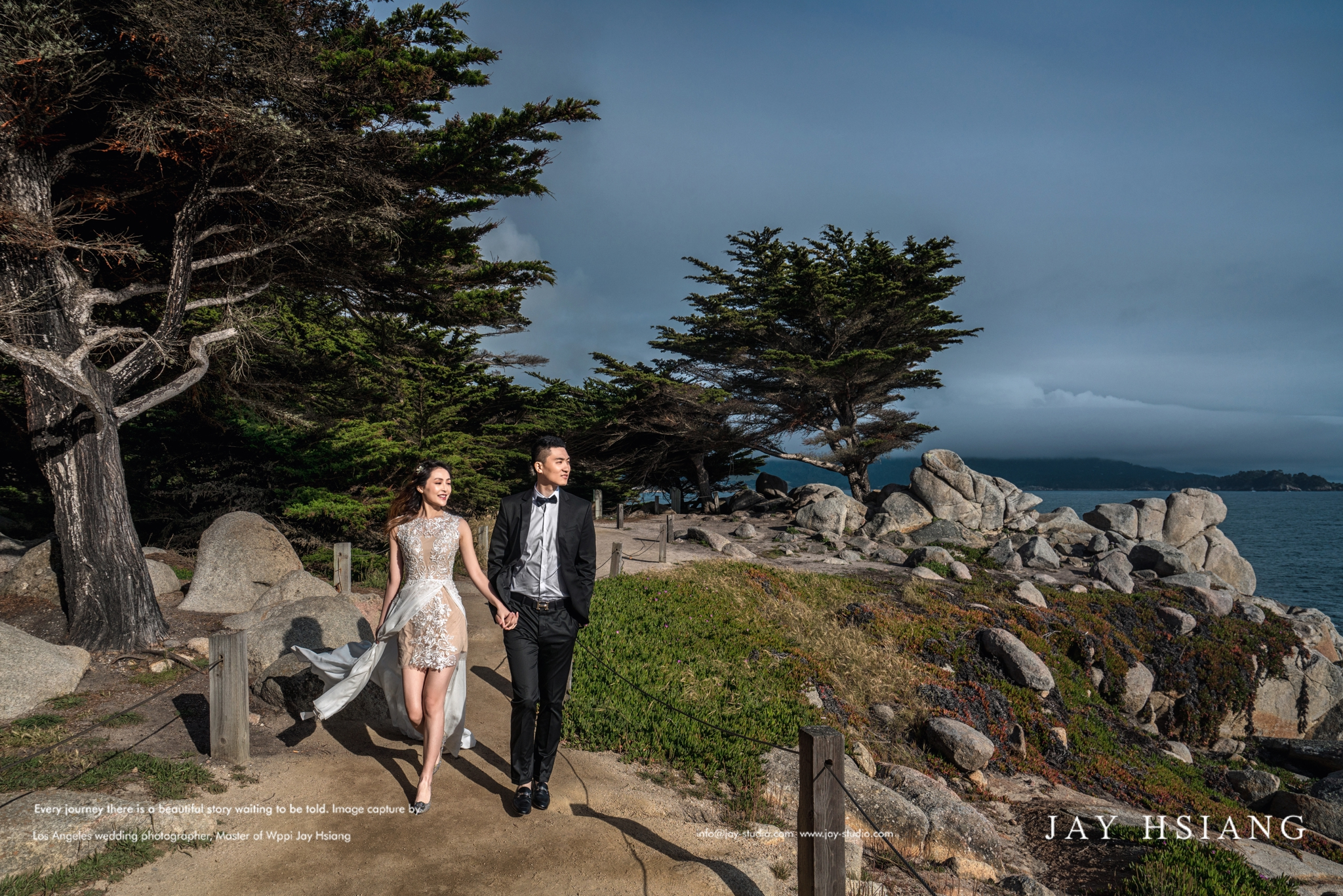 monterey 17 mile drive pre wedding photo