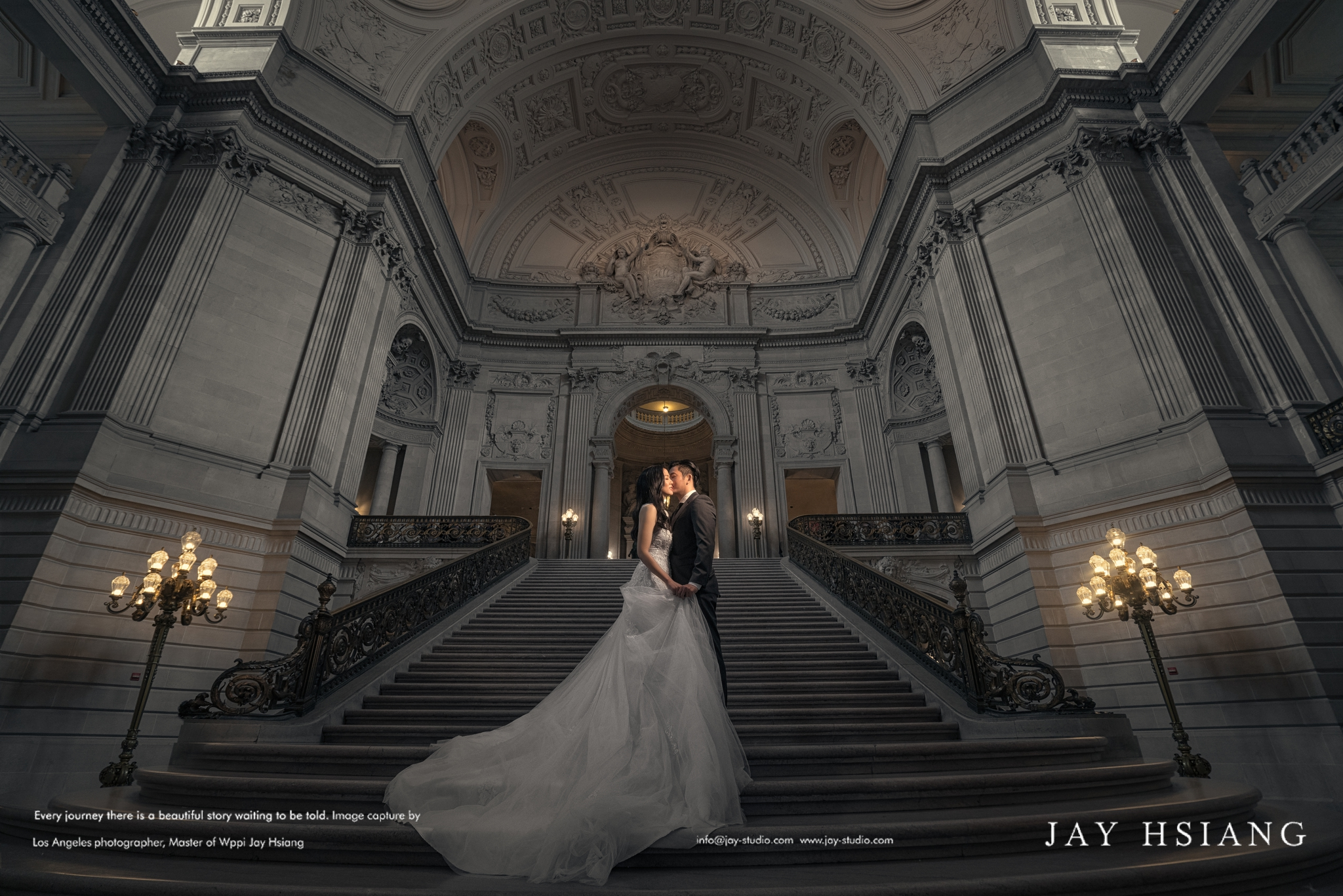 san francisco city hall pre wedding photo