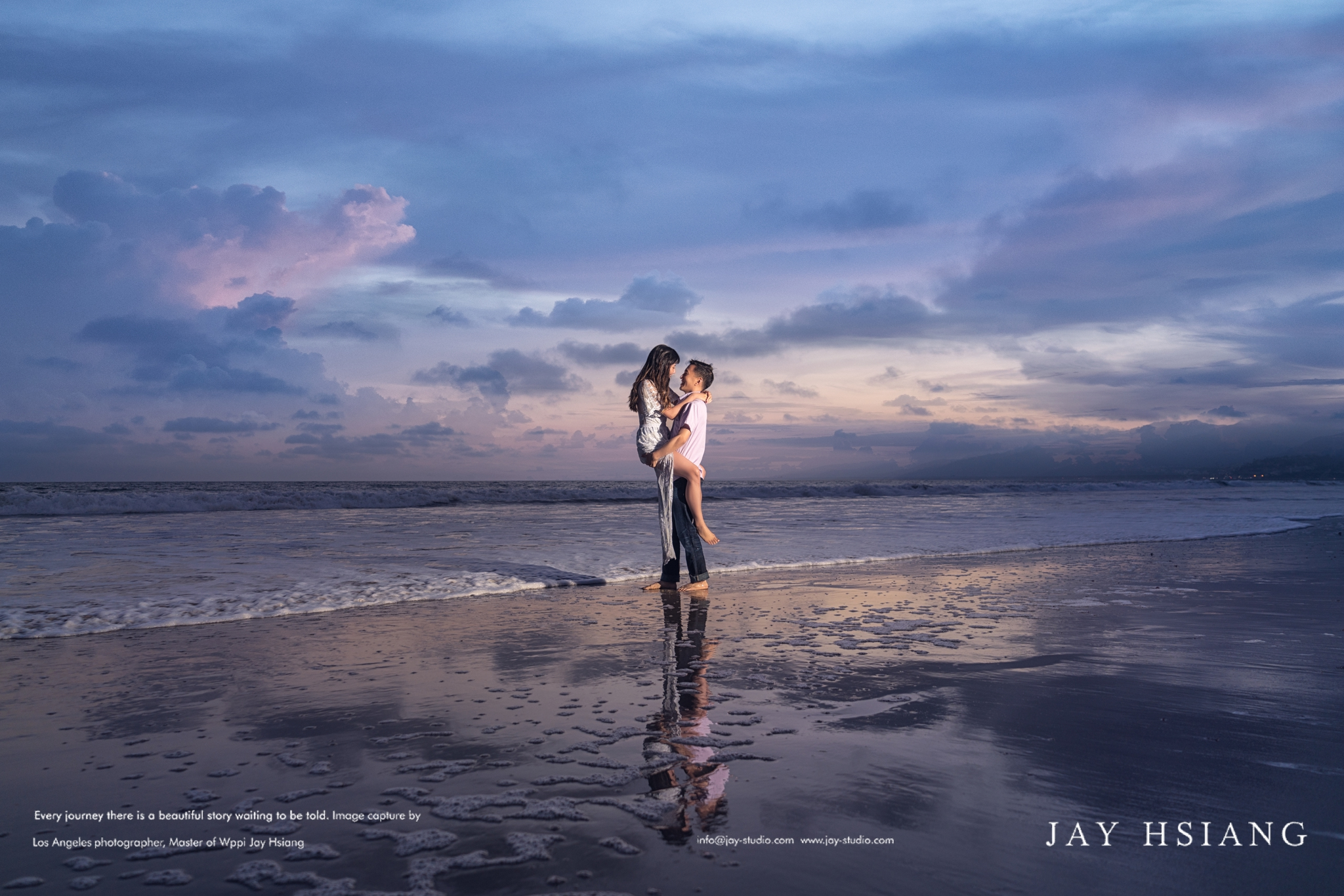 beach engagement photo la