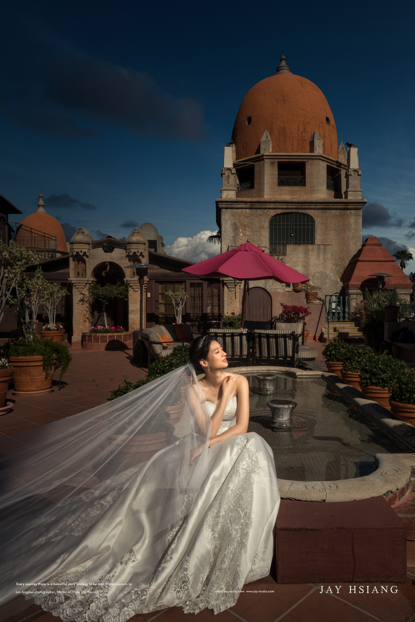 mission inn hotel wedding photo