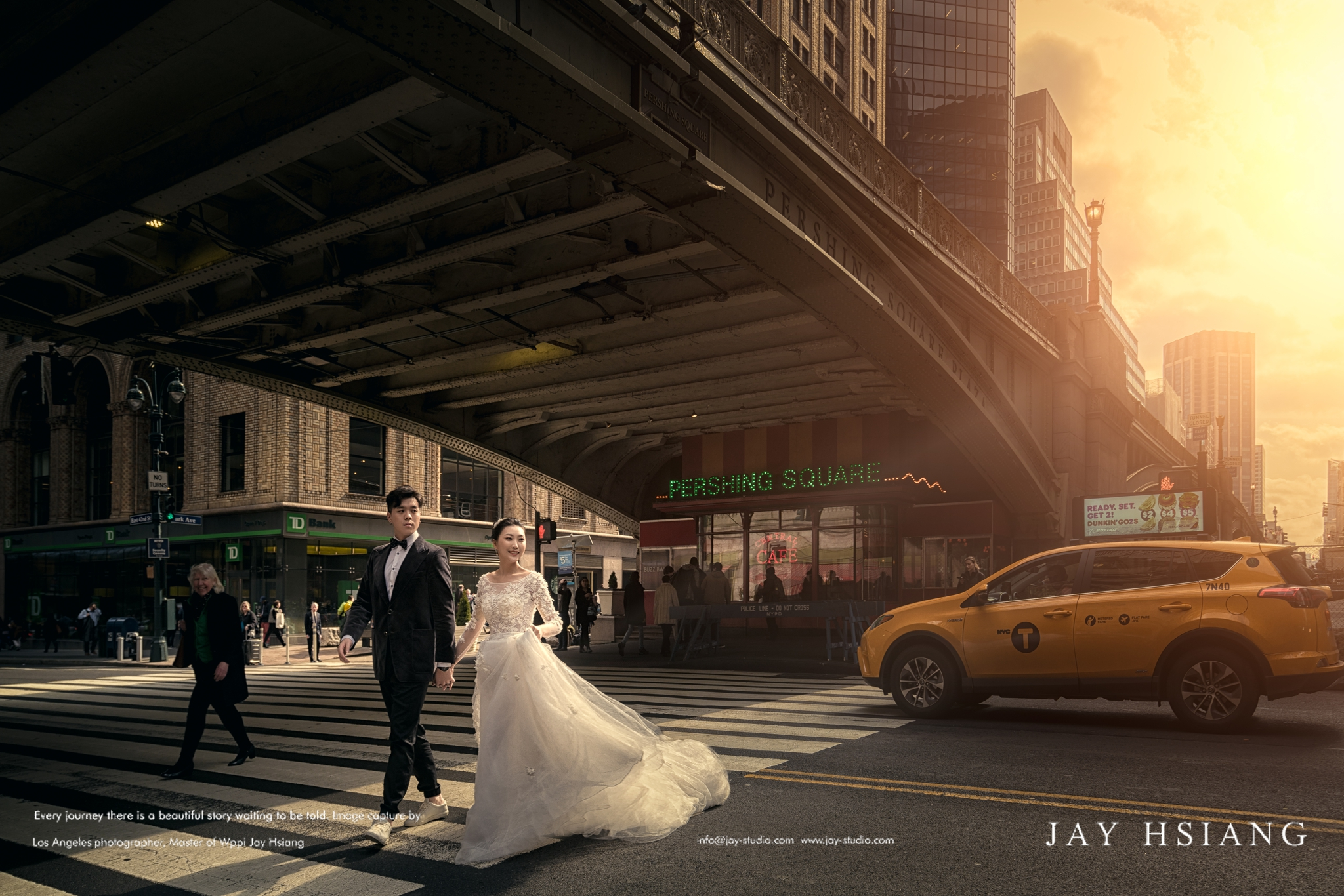 grand central station new york pre wedding photo