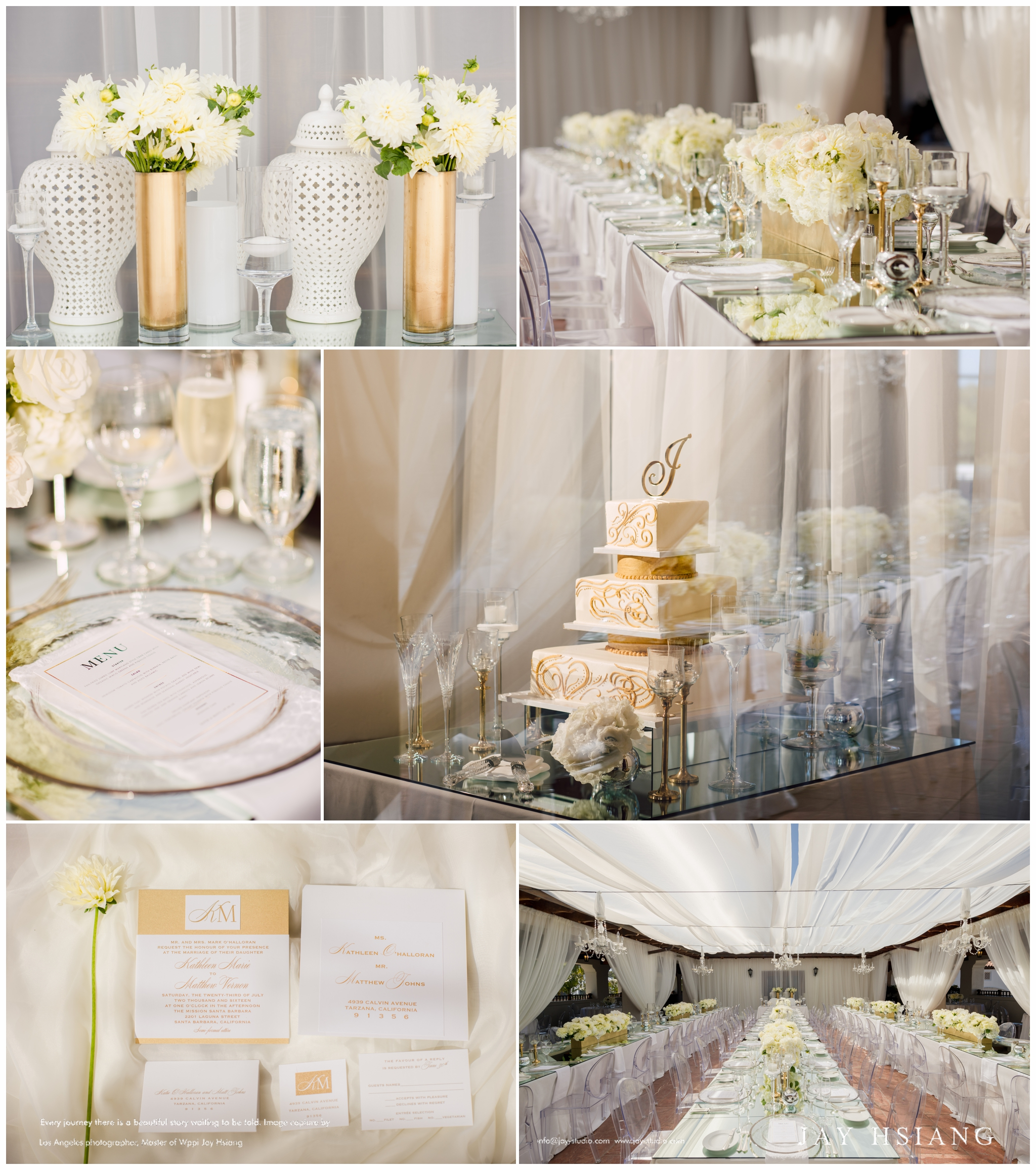 wedding reception decor la