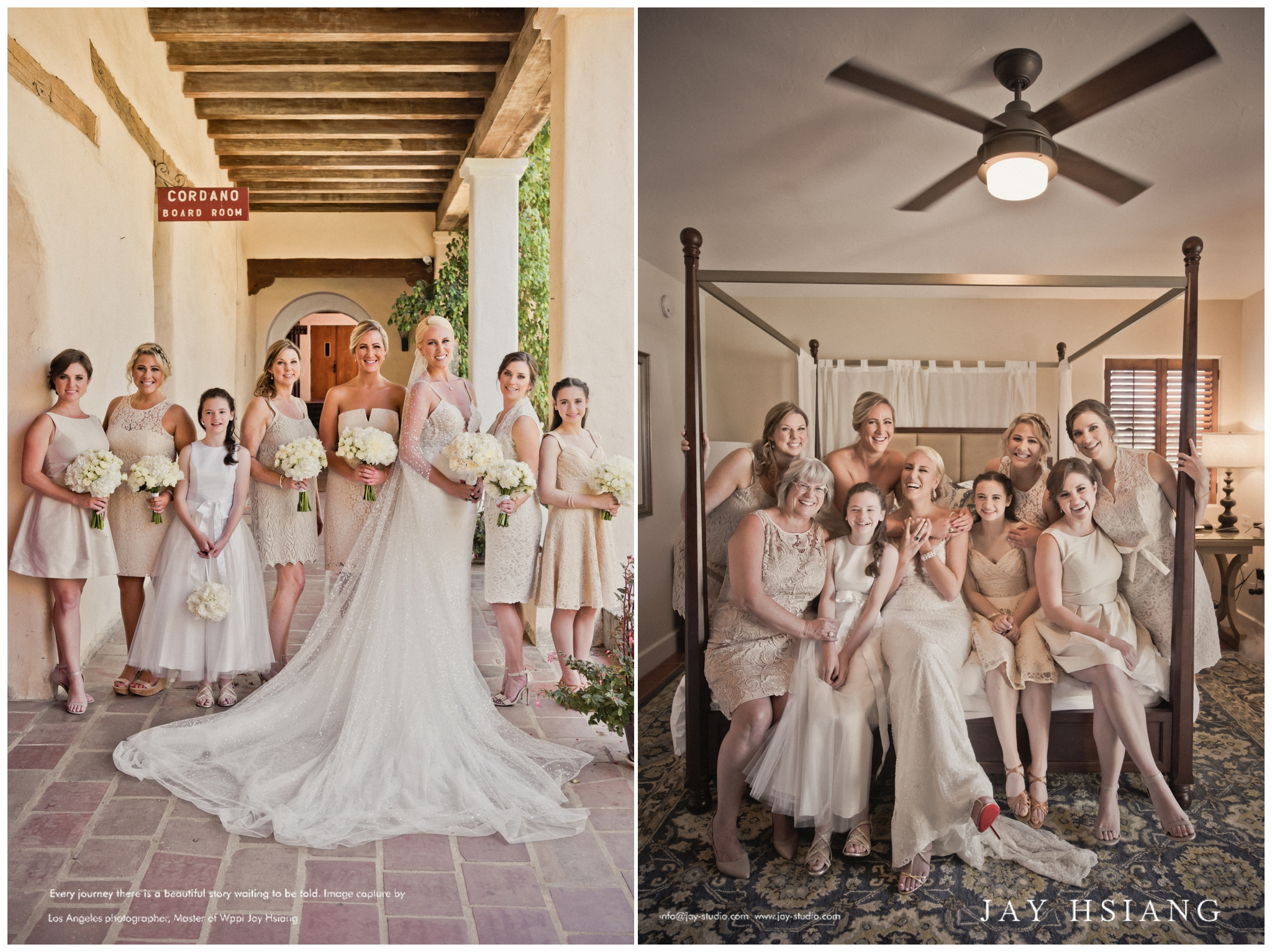 wedding bridal party los angeles
