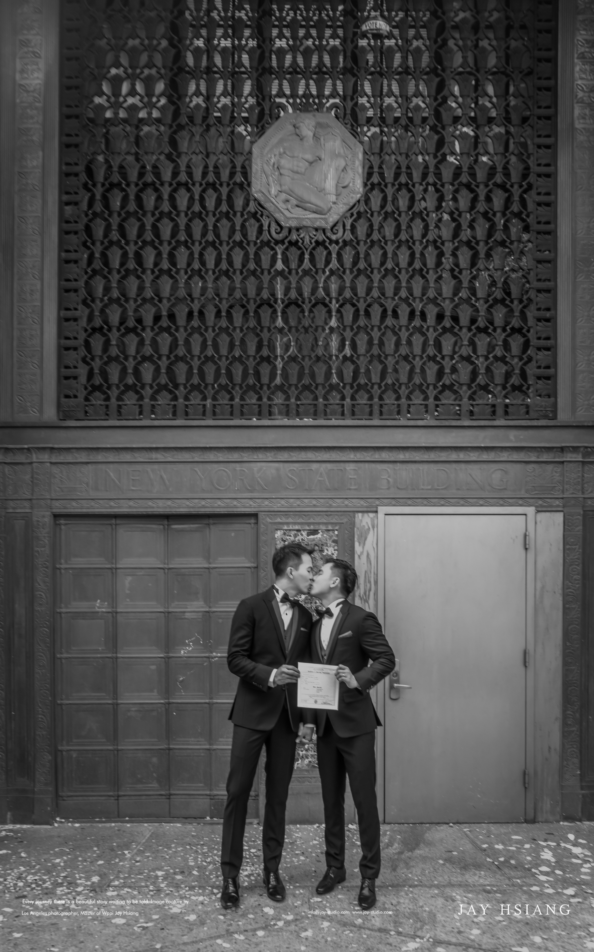 same sex wedding photo new york