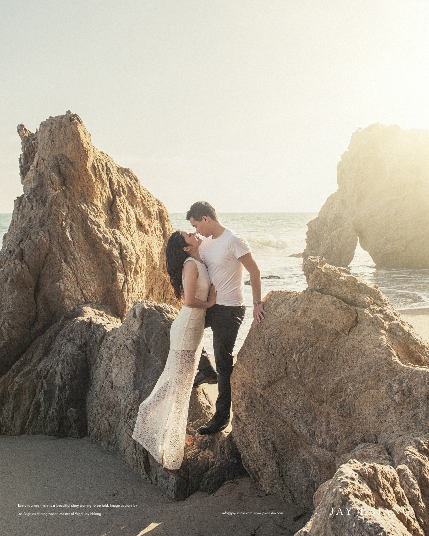el matador beach engagement photo