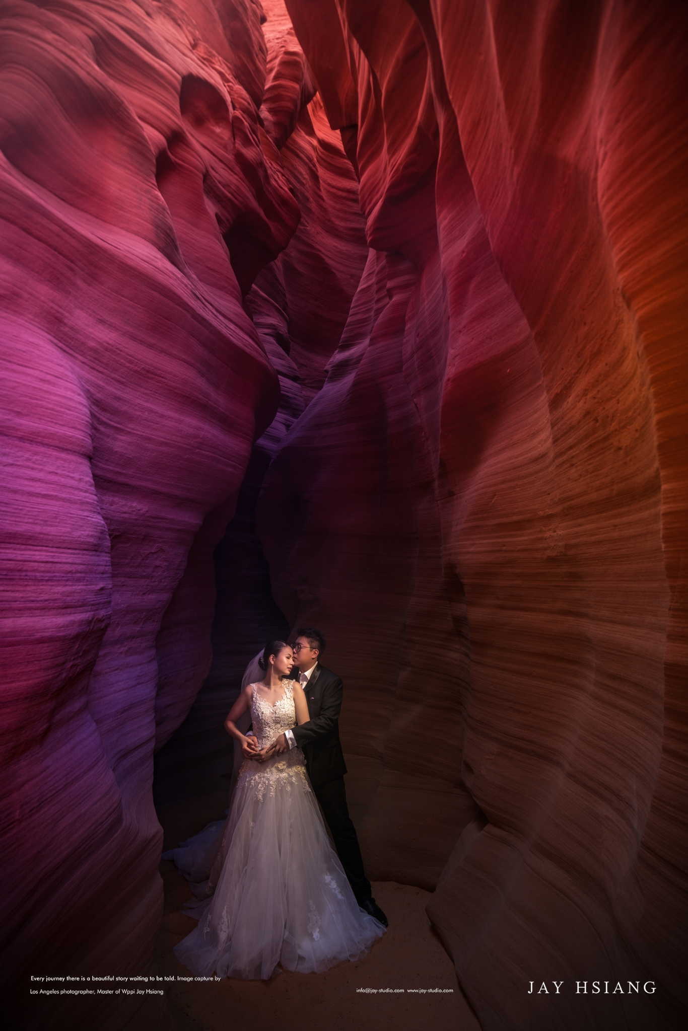 antelope canyon engagement photo