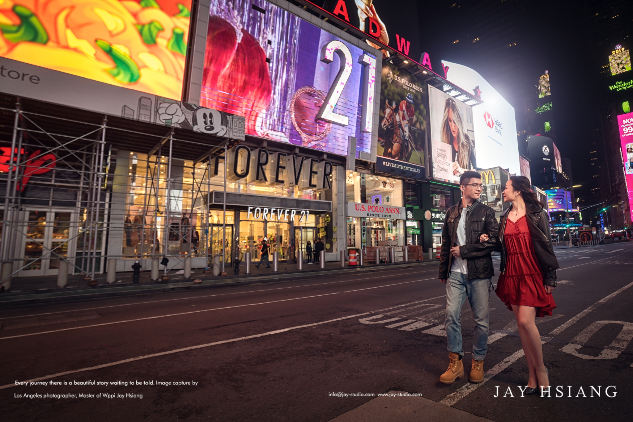 new york time square engagement photo