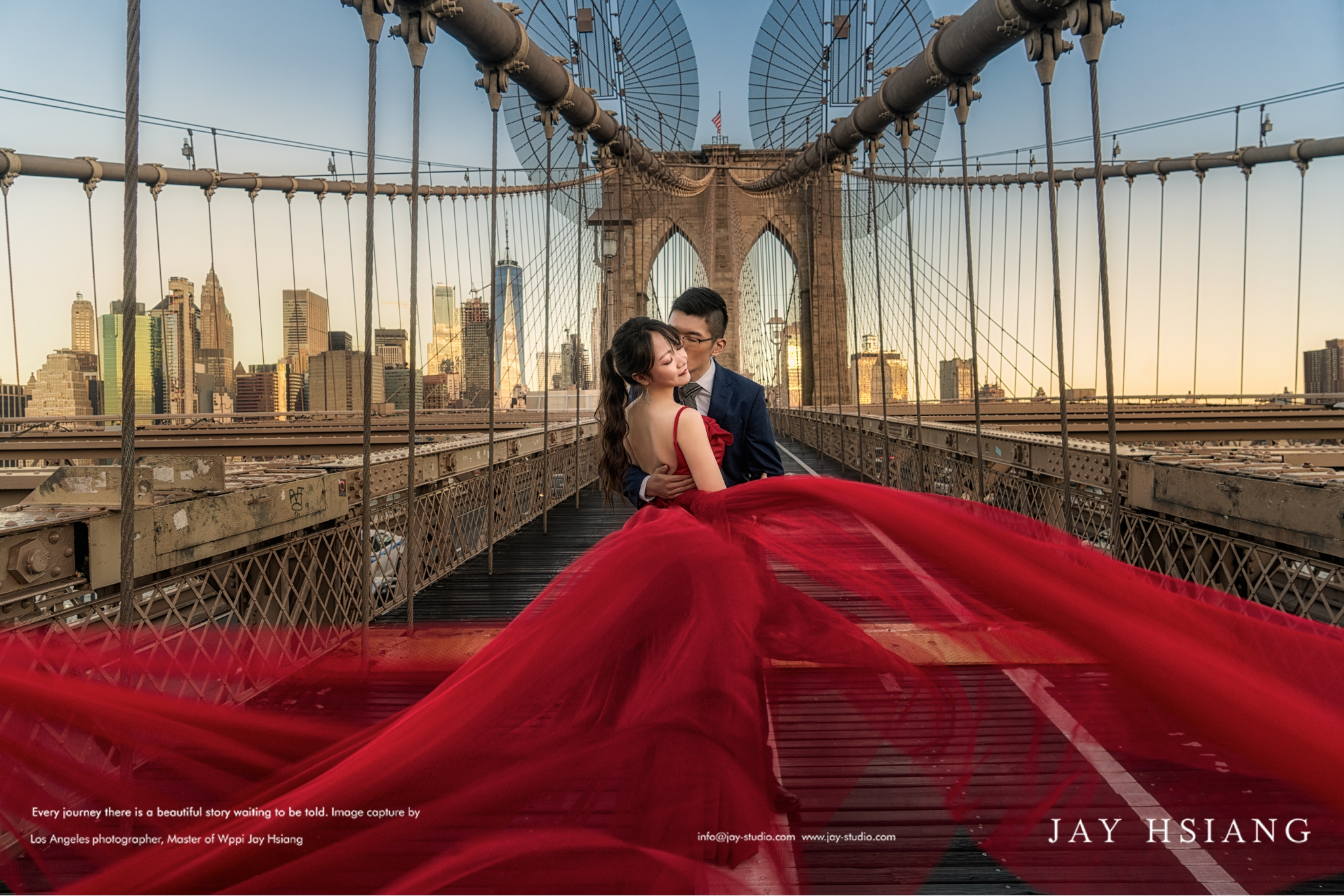 Brooklyn bridge new york wedding photo