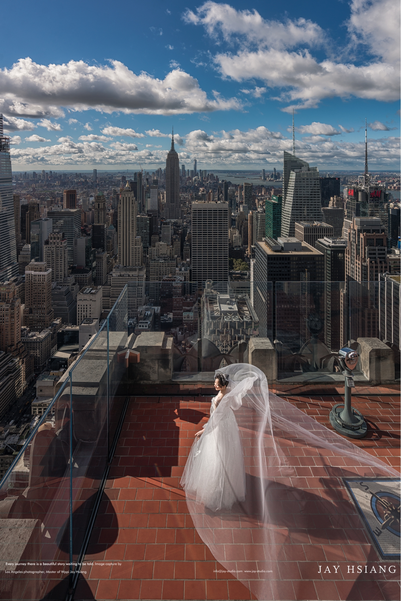 rockefeller new york wedding photo
